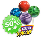 Color Xploder Lollipops Fundraising