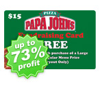 Unlimited Use Papa Johns Pizza Card